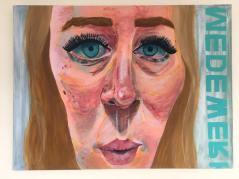 'Werken' 2018 60 cm x 80 cm Acrylverf op doek