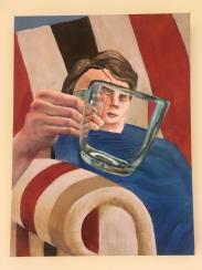 'Thuis' 2018 40 cm x 30 cm Acrylverf op doek