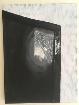 'Machine en/of Natuur' 2012 40 cm x 30 cm Acrylverf op doek