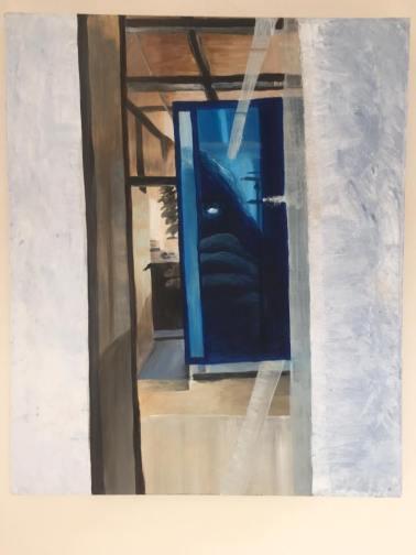 '(Dis)organized' 2012 60 cm x 50 cm Acrylverf op doek