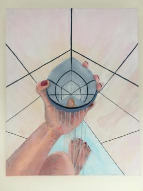 'Een naakt' 2018 50 cm x 40 cm Acrylverf op doek