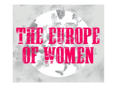"""Logo for the conference """"The Europe of Women"""" on the 26th and 27th of November. Join the debat! For more information: ru.nl/europeofwomen"""